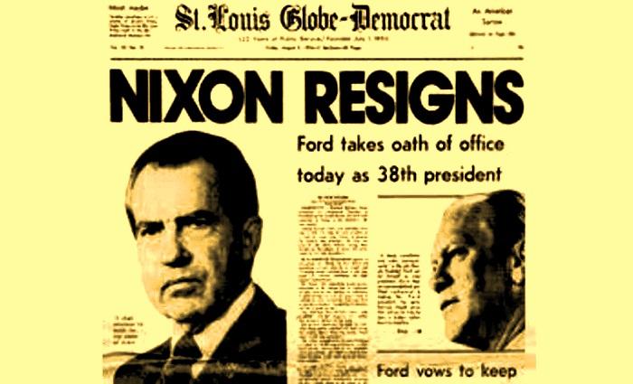 President Richard Nixon Resigns (ilustrasi). Foto NNC/PinsDaddy/NusantaraNews.co