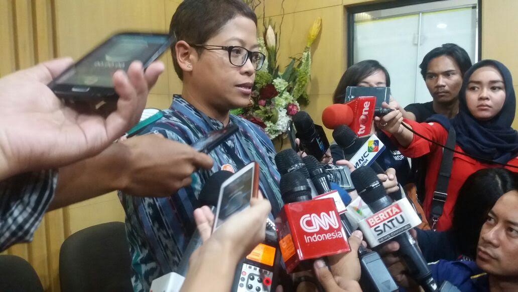 Pelaksana Harian (Plh) Kabiro Humas KPK, Yuyuk Andriati mengkonfirmasi keempat saksi tersebut belum juga hadir di KPK. Foto Restu Fadilah/Nusantaranews