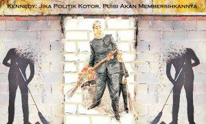 Ilustrasi Politik Kotor, Puisi akan membersihkannya/SelArt /Nusantaranews