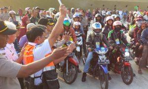 Ilustrasi pelepasan pemudik motor - Rabu, 29 Juni 2016/Foto NUSANTARANEWS via beritasatu