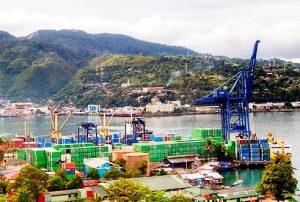 Ilustrasi Pelabuhan di Papua