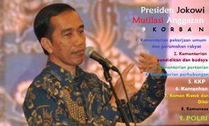 Presiden Jokowi Mutilasi Anggaran 9 kementerian