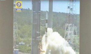 Satelit LAPAN-A3 menuju orbitnya di ketinggian 500 kilometer melalui siaran langsung streaming langsung dari India, Rabu (22-6)/ Ilustrasi: Nusantaranews /Foto dok. CNN