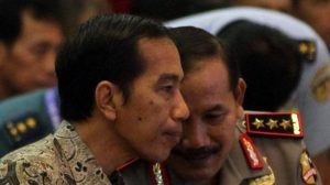 Presiden Joko Widodo dan Kapolri Badrdoin Haiti/Foto via Kompas