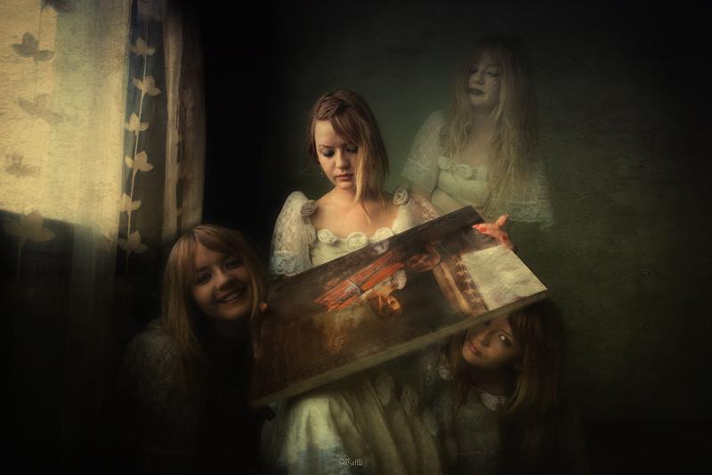 Ilustrasi sebuah lukisan berjudul Schizophrenia oleh Cikolatali Waffle via sintayudisia