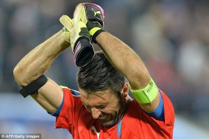 Gianluigi Buffon burst into tears after Italy's penalty shoot-out loss to Germany in the Euro 2016 quarter-finals/AFP/Getty Images