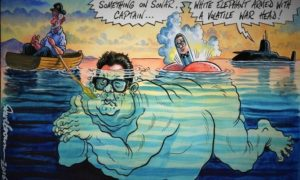Daily cartoon, 20 Juli 2016 - A Volate War Hewad / Copyright Independent