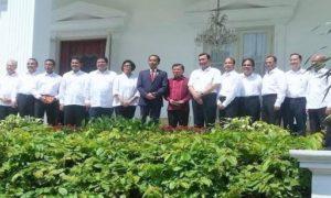 Formasi baru kabinet kerja hasil reshuffle jilid II/Foto via SN