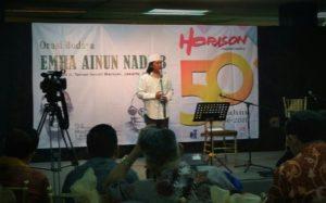 Emha Ainun Nadjib menyampaikan Orasi Budaya dalam perayaan 50 Tahun Majalah Sastra Horison, TIM, 26 Juli 2016/Foto Selendang/Nusantaranews