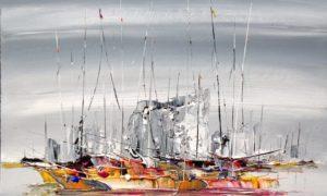 Ilustrasi Lukisan Akrilik di atas kanvas 100 x100 Karya Fred Bouter/Istimewa
