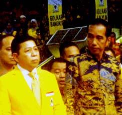 Jokowi Pertegas Komitmen Golkar
