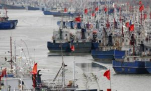 Lianyungang fishing boats Milik Cina/Foto Nusantaranews