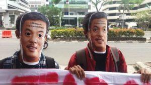 Massa Aksi PMJ di depan Gedung KPK/Foto Nusantaranews /Rahmat