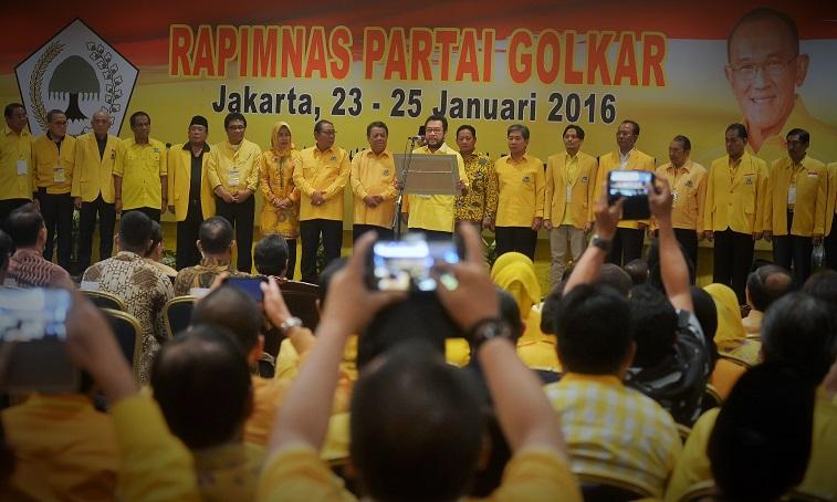 Penutupan Rapimnas Partai Golkar 25 Januari 2016 / Foto Nusantaranews via antara