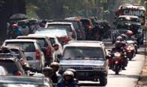 Puncak Arus Balik, Kemacetan di Jalan Purwokerto-Tegal/Foto MRH / Nusantaranews