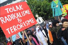 Ilustrasi penolakan radikalisme di Indonesia