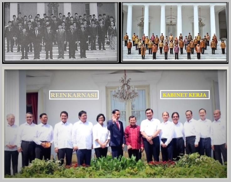 Reinkarnasi Kabinet Pemerintah Indonesia/Ilustrasi SelArt/Nusantaranews