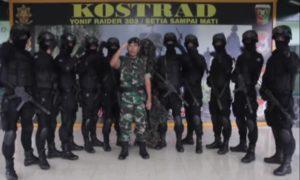 Foto bersama: Satuan Yonif 303/Setia Sampai Mati/Foto Nusantaranews/Istimewa