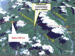 Peta Sungai Sumantipal dan Sungai Sinapad, Kalimantan Utara/Foto: Screenshot GoogleMap