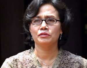 Menteri Keuangan hasil reshuffle jilid II kabinet kerja Jokowi-JK, Sri Mulyani Indrawati