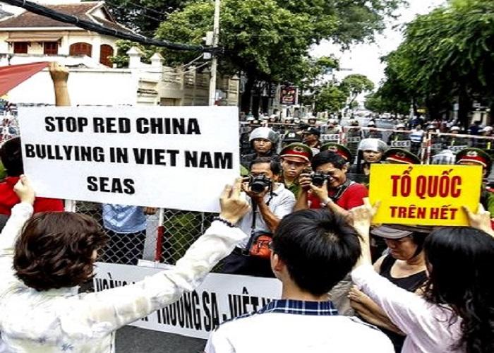 Gerakan Anti Cina di Vietnam. (Foto: Ist)