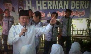 Calon Gubernur Sumsel Herman Daru/Foto nusantaranews via sumselpostonline
