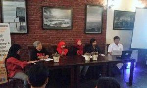 Diskusi dan Peluncuran Penghargaan Liputan Terbaik untuk PRT/Foto nusantaranews/Ucok