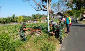 Pos Ramil 0824/28 Pakusari Karya Bakti Bersama Masyarakat/Foto Istimewa