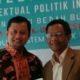 Mahfudz Md dan Ubedilah Badrun usai acara peluncuran/Foto nusantaranews (Istimewa)
