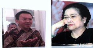 Ilustrasi Ahok dan Megawati/ Nusantaranews