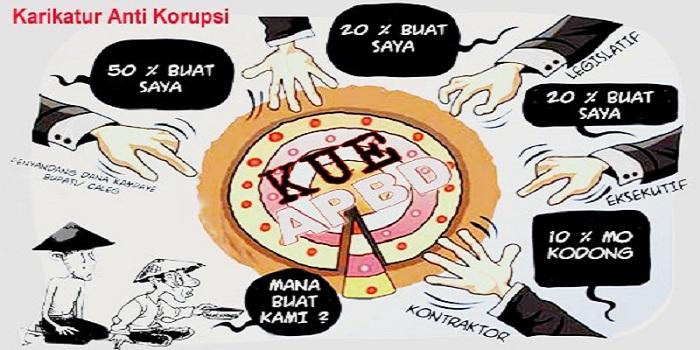 Karikatur Anti Korupsi/Ilustrasi/Net/Istimewa/Nusantaranews