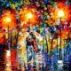 Sepasang Kekasih Dalam Gerimis, Salah Satu Lukisan Spektakuler karya Pelukis Leonid Afremov/Foto Istimewa