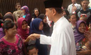 Sjafrie Sjamsoeddin menyentuh Pemukiman Padat di Kampung Melayu/Foto Nusantanews (Istimewa)