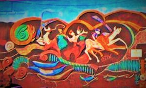 "Grafiti ""Nenek Moyang Madura"" di Taman Hiburan Rakyat Gotong Royong Sumenep/Ilustrasi SelArt/nusantaranews"