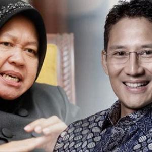 Ilustrasi pasngan Cagub DKI Jakarta, Risma-Sandiaga
