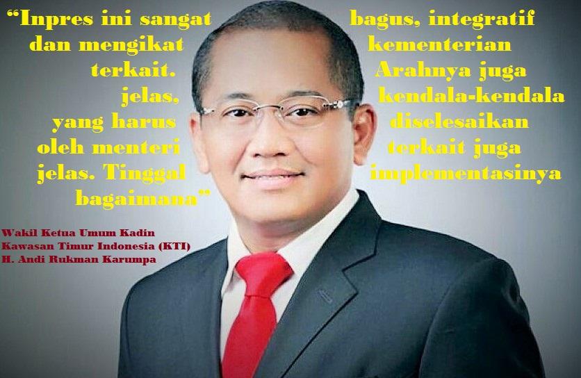 Wakil Ketua Umum Kadin Kawasan Timur Indonesia (KTI) H. Andi Rukman Karumpa/Ilustrasi nusantaranews/latar istimewa