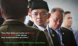 Wakil Sekjend DPP PKB Maman Imanulhaq/Ilustrasi foto nusantaranews