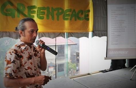 Juru Kampanye Hutan Greenpeace Indonesia, Yuyun Indradi/Foto nusantaranews via antara