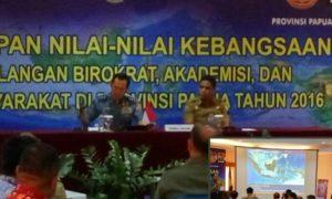 Pemantapan nilai-nilai kebangsaan bagi para birokrat, akademisi, dan tokoh masyarakat di Kota Jayapura Provinsi Papua/Foto nusantaranews via kodam17cenderawasih