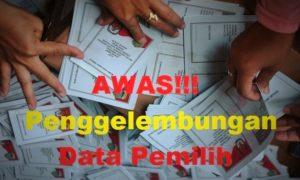 Awas Penggelembungan Data Pemilih/Ilustrasi Nusantaranews
