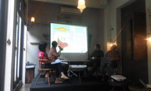 diskusi publik bertajuk 'Tantangan Menata Masa depan Gambut di Riau'/Foto nusantaranews/Fadilah
