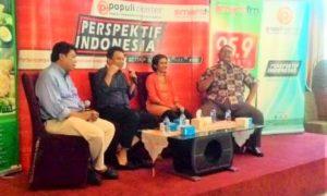 diskusi publik bertema 'Penghadangan dan Pembakaran Lahan'/Foto nusantaranews/Fadilah