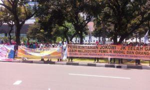 Buruh tuntut Jokowi Hapus Tax Amnesty/Foto Andika
