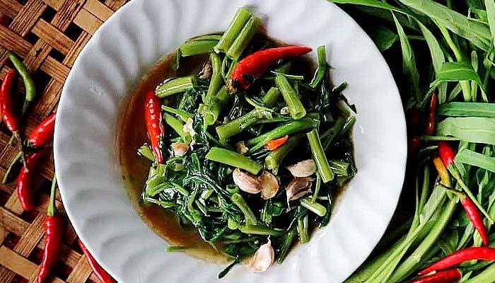 Mengenal sayuran kangkung bagi kesehatan.