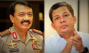 Komjen Pol Budi Gunawan dan Fahri Hamzah/Ilustrasi foto nusnataranews