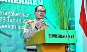 Menteri Hanif Dhakiri sambutan pada acara penutupan Rakornas Wasnaker di Jakarta, 31 Agustus 2016/Foto nusantaranews