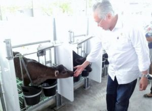 Menteri Perdagangan RI, Enggartiasto Lukita melakukan kunjungan kerja ke PT. Austasia Stock Feed di Jabung, Lampung Timur, Sabtu (17/9)/Foto Istimewa