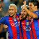 Neymar, Messi, Suarez merayakan kemenangan saat menghajar Celtic pada laga pembuka Liga Champion Grup C/Foto Istimewa