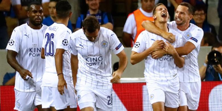 Punggawa Leicester Berpesta Usai Menang Telak atas Club Bregge/Foto Istimewa