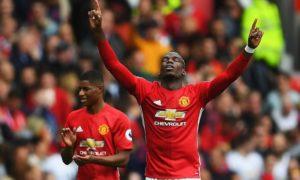 Selebrasi Paul Pogba saat merayakan gol perdana di Liga Inggris/Foto istimewa